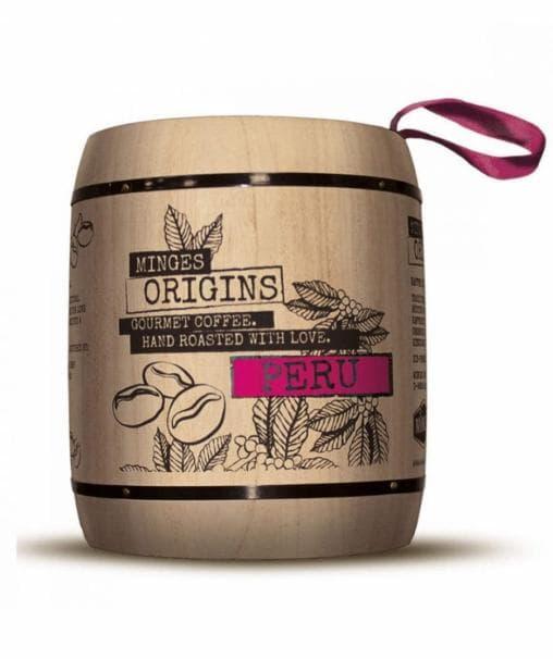 Кофе в зернах Minges Peru в дер. бочке 250 г (0.25 кг)