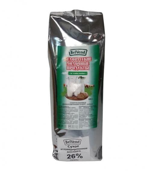 Молоко BelVend 26% 500 гр