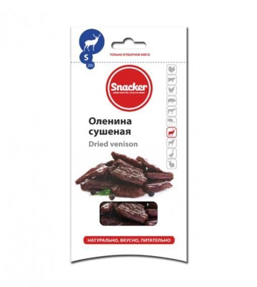 Сушеная оленина Snacker 20г /20 шт