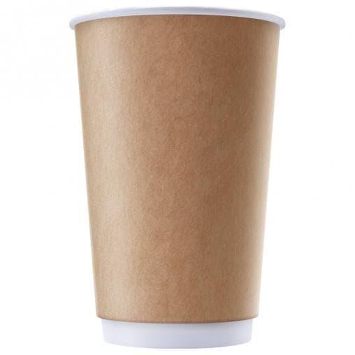 Бумажный стакан Крафт 2-слойный d=90 400мл