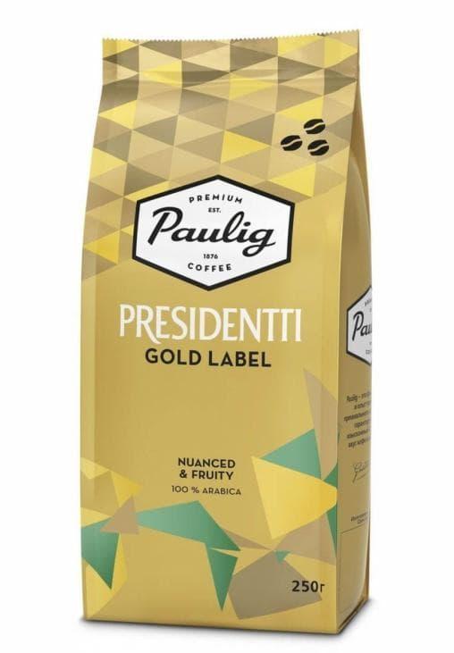 Кофе в зернах Paulig Presidentti GoldLabel 250г