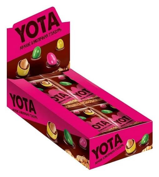 Арахис YOTA в молочно-шоколадной и сахарной глазури 40 г