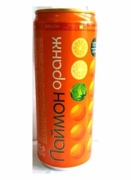 Газированный напиток Laimon Orange 330 мл банка