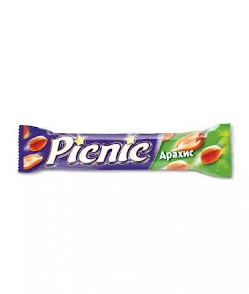 Батончик шоколадный Пикник Picnic арахис 38гр