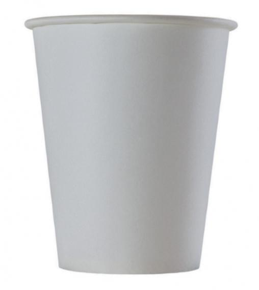 Бумажный стакан Белый d=80 250мл