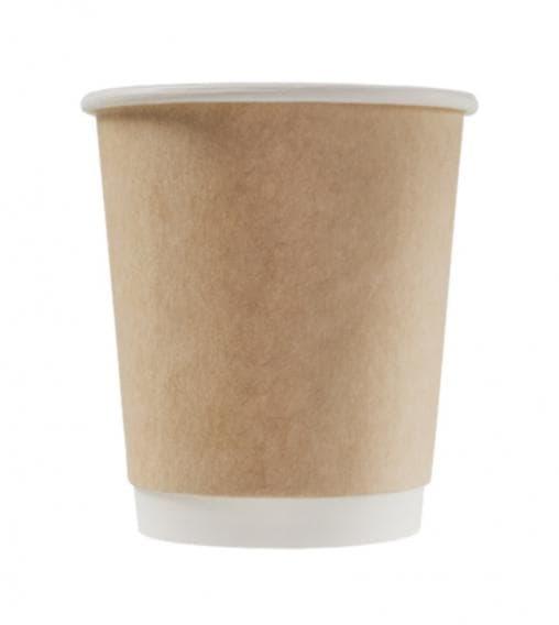 Бумажный стакан для кофе и горячих напитков Крафт 2-слойный ∅ 80мм 250 мл – цена, описание, фото