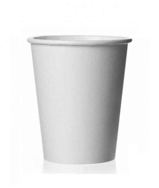 Бумажный стакан для кофе 160 мл белый (100 шт)