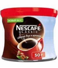 Кофе растворимый Nescafé Classic ж/банка 50г