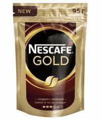 Кофе растворимый Nescafé Gold пакет 95г