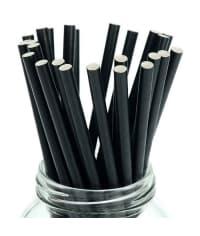 Бумажные трубочки Шварц черные 200мм d=8мм (150 шт)
