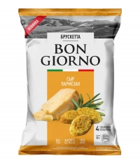 Брускетта BON GIORNO со вкусом Сыр Пармезан 70 г
