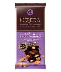 """Шоколад O""""Zera Dark & Extra Almond темный с цел. миндалем 90 г"""