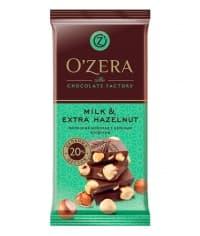 """Шоколад O""""Zera Milk & Extra Hazelnut Молочный с цел. фундуком 90 г"""