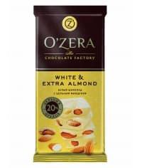 """Шоколад O""""Zera White & Extra Almond белый с цел. миндалем 90 г"""