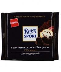 Шоколад Риттер Спорт Горький с элитным какао из Эквадора Ritter Sport 100г