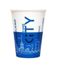 Бумажный стакан EcoCups Д-City СИНИЙ d=80 250мл