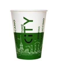 Бумажный стакан EcoCups Д-City ЗЕЛЕНЫЙ d=80 250мл