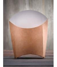Упаковка для картофеля фри Ecofry-M крафт 76*54*126 мм