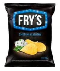 Чипсы FRY'S Сметана и зелень 70 г