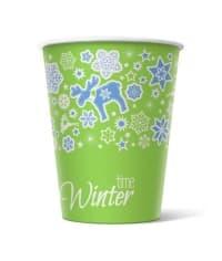 Бумажный стакан Winter Time d=90 300мл