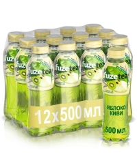 FuzeTea зеленый чай Яблоко Киви без сахара 500мл ПЭТ