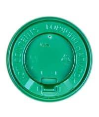 Крышка с клапаном Зелёная d=90