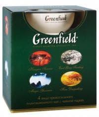 """Гринфилд Набор """"Коллекция превосходного чая с чайной парой"""" 4 вида х50г., (100 пак.), 200 г"""