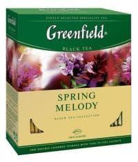 Чай чёрный Гринфилд Спринг Мелоди, 100 пак. х 1,5г.