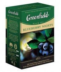Чай черный Greenfield Blueberry Nights листовой 100г