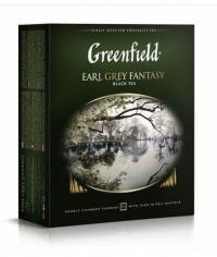 Чай черный Greenfield Earl Grey Fantasy 100 пак. х 2г