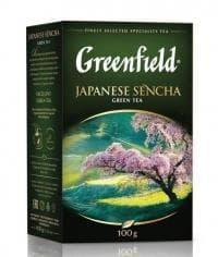Чай листовой зелёный Гринфилд Джапаниз Сенча 100г. (0,1кг)