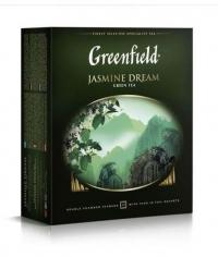 Чай зелёный Гринфилд  Жасмин Дрим, 100 пак. х 2г.