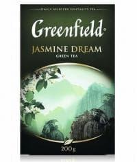 Чай листовой Гринфилд Жасмин Дрим зелёный ароматизированный 200г. (0,2 кг)
