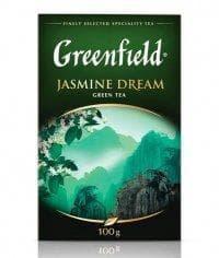 Чай листовой Гринфилд Жасмин Дрим зелёный ароматизированный 100г. (0,1кг)