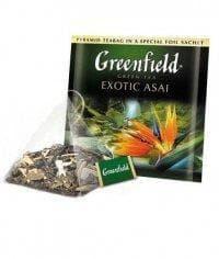 Чай зеленый Greenfield Exotic Asai в пирамидках (20 х 1,8г)