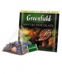 Чай черный Greenfield Mint & Chocolate в пирамидках (20 х 1,8г)