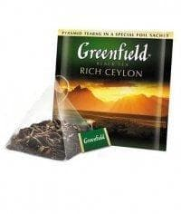 Чай черный Greenfield Rich Ceylon в пирамидках (20 х 2г)