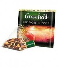 Чай фрукт. Greenfield Tropical Sunset (20 пирам. х 1,8г)