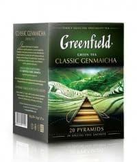 Чай зеленый Greenfield Classic Genmaicha (20 пирам. х 1,8г)