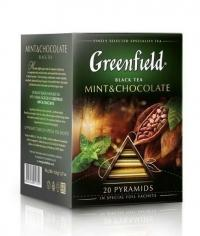 Чай черный Greenfield Mint & Chocolate в пирамидках (20 х 1,8г)