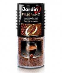 Кофе растворимый с молотым Jardin Filigrano стекл. банка 95г
