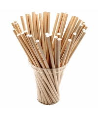 Бумажные трубочки Крафт 200мм d=8мм (150 шт)