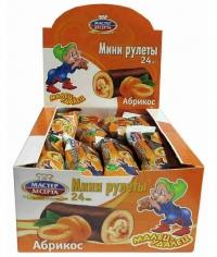 Мини-рулет Малец-Удалец Абрикос 35г