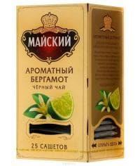 Чай черный Майский Ароматный Бергамот 25 саше х 2 г