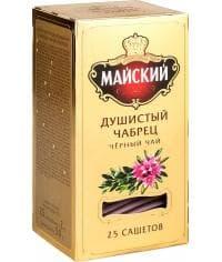 Чай черный Майский Душистый Чабрец 25 саше х 2 г