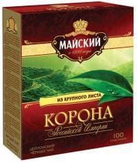 Чай черный Майский Корона Российской империи 100 пак. х 2г
