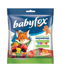 Мармелад жевательный Babyfox Бегемоты 70 г