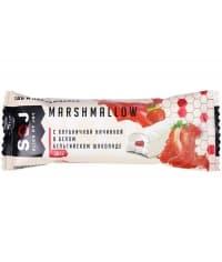 Батончик SOJ Marshmallow с клубничной начинкой в белом шоколаде 30 г