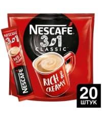 Кофе Nescafé 3в1 Классический стик 14.5г × 20 шт.