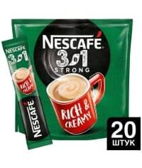 Кофе Nescafé 3в1 Крепкий стик 14.5г × 20 шт.
